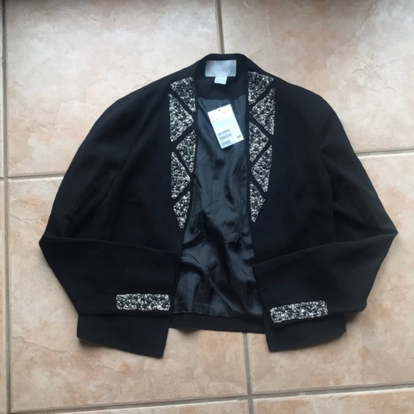 H&M Jackets & Blazers - 3/$30 NWT H&M Embellished Black Open Blazer 4